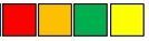 rood oranje groen geel